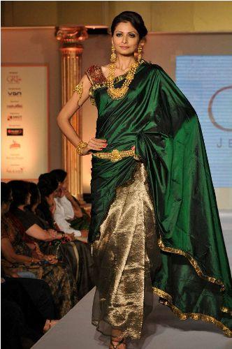 Green Sarees-Designer Green Silk Saree 9