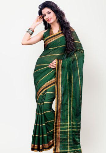Green Sarees-South Indian Green Saree 3