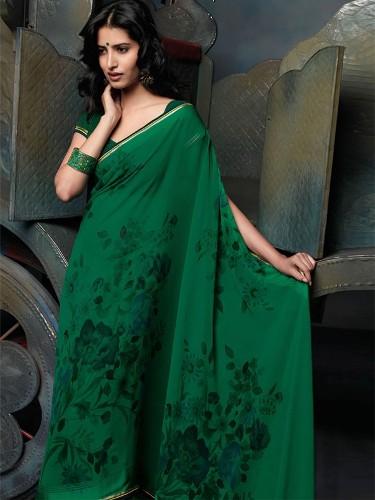 Green Sarees-The Celebrity Green Saree 4