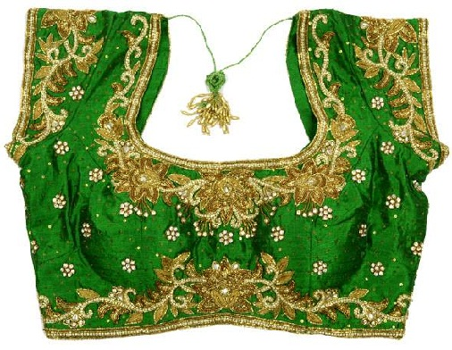 Green blouse designs4