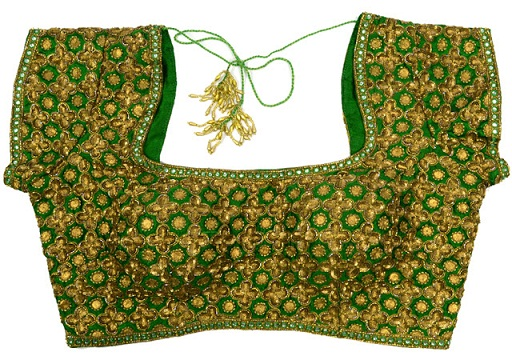 Green blouse designs7