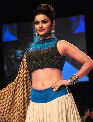 High Neck Blouse Designs-Prachi Desai High Neck Blouse Design