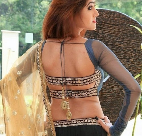 Latest Blouse Designs-Stringed Back Blouse