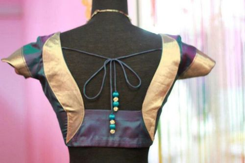 Mixed Color Patchwork Blouse 7