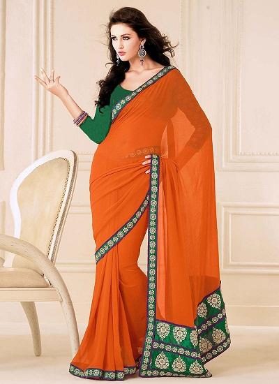 Orange sarees 1