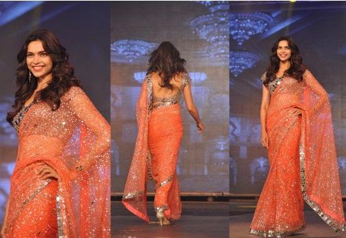 Orange sarees 11