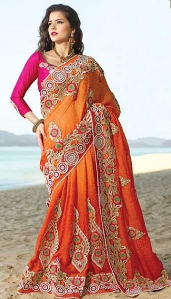 Orange sarees 13