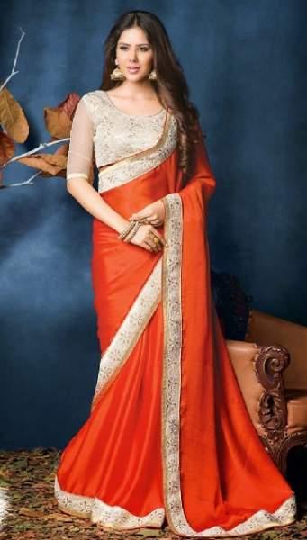 Orange sarees 14
