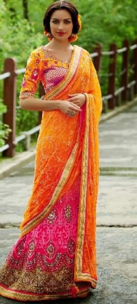 Orange sarees 15
