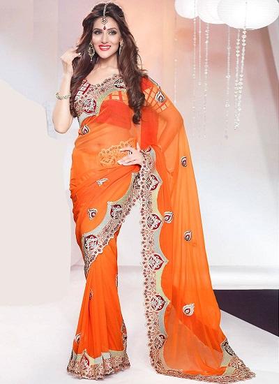 Orange sarees 3