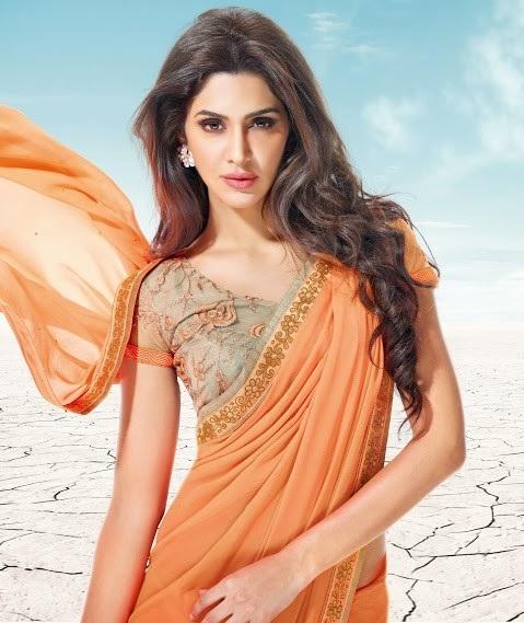 Orange sarees 5