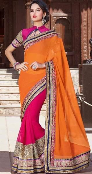 Orange sarees 6