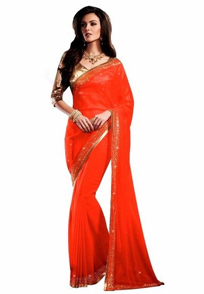 Orange sarees 7