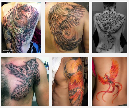 top 15 phoenix tattoo designs with meanings styles at life. Black Bedroom Furniture Sets. Home Design Ideas