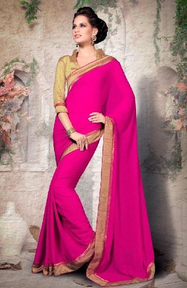 Pink Designer Sarees 1