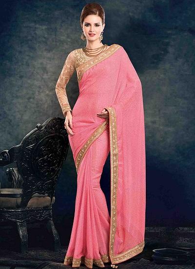 Pink Designer Sarees 10