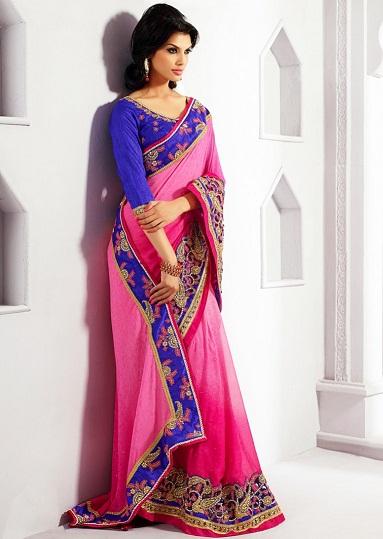 Pink Designer Sarees 11