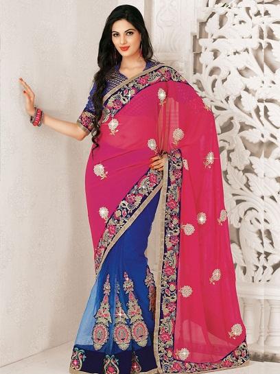 Pink Designer Sarees 12