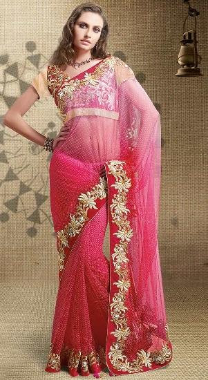Pink Designer Sarees 14