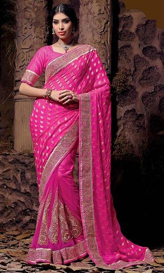 Pink Designer Sarees 2