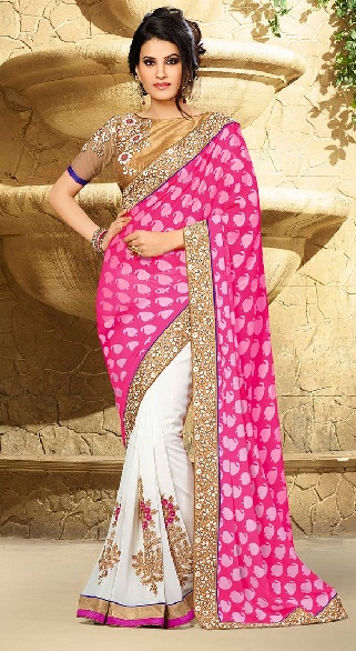 Pink Designer Sarees 3