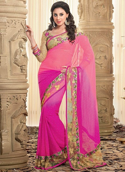 Pink Designer Sarees 4