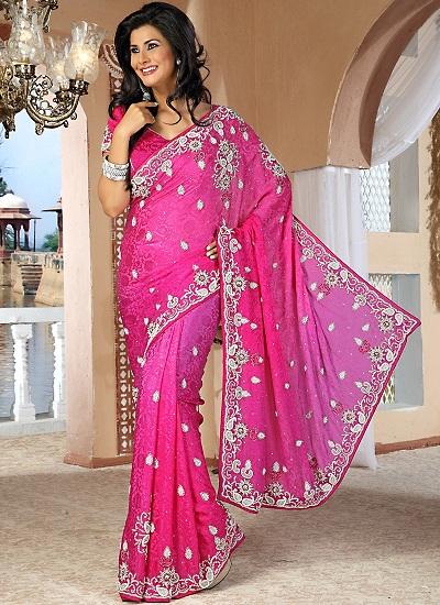 Pink Designer Sarees 5