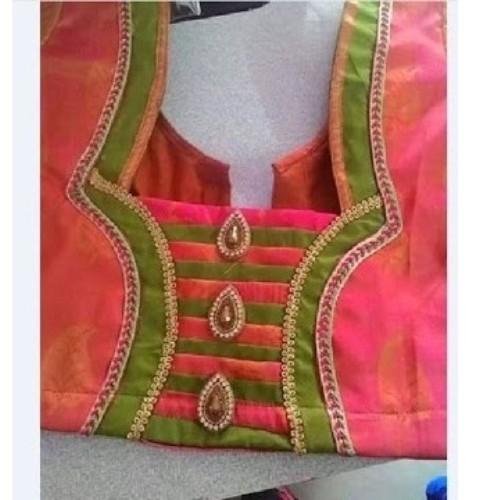 Saree Blouse Neck Embroidery Design
