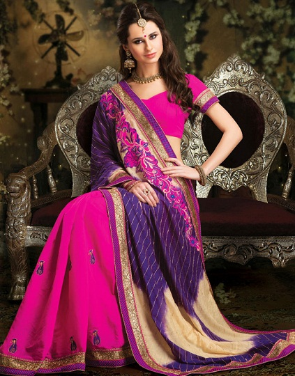 Purple sarees 11