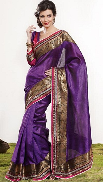 Purple sarees 12