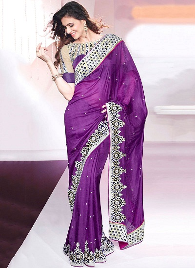 Purple sarees 15