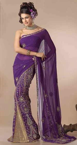 Purple sarees 2