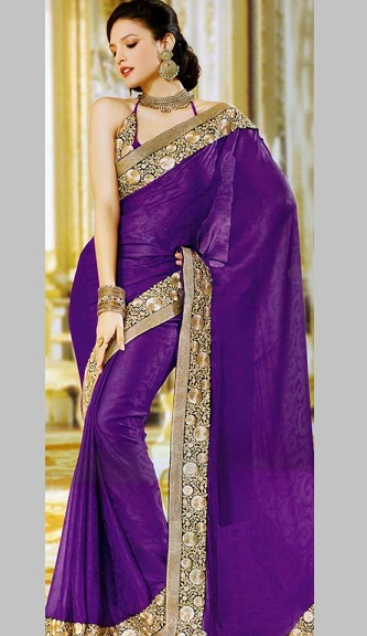 Purple sarees 3