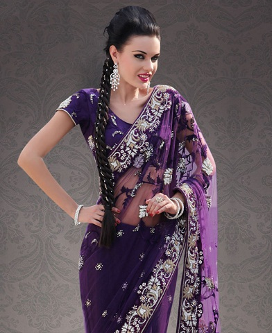 Purple sarees 4