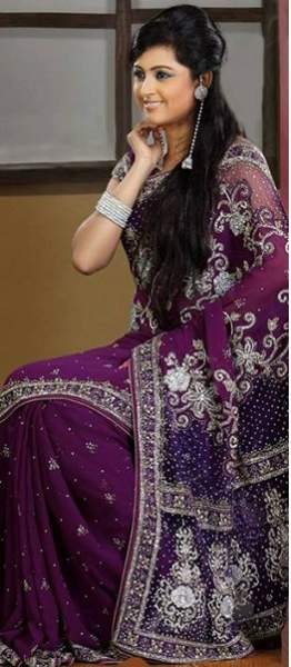 Purple sarees 5