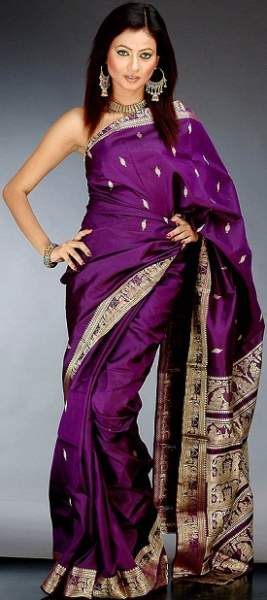 Purple sarees 6