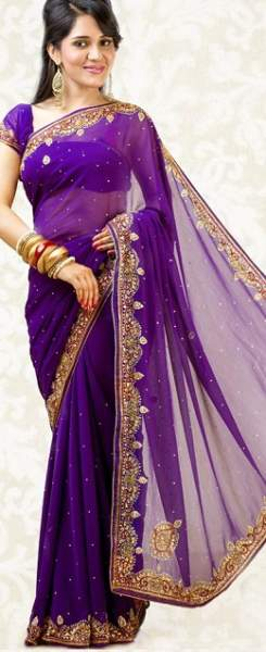 Purple sarees 9