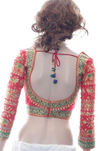 Red Blouse Designs-Rajasthani Red Blouse Design 5