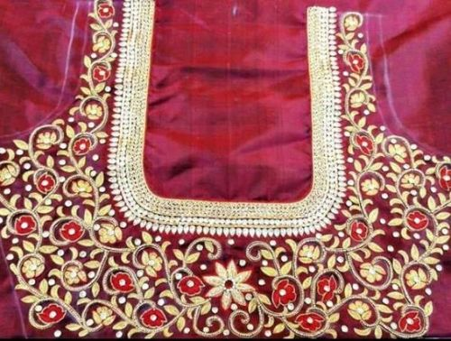 Red Blouse Designs-Sleeveless Designer Blouse 9