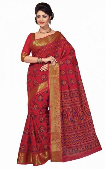 Red sarees 1