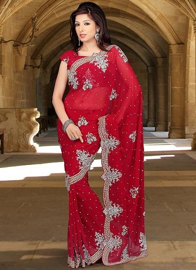 Red sarees 11