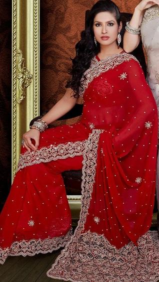 Red sarees 12