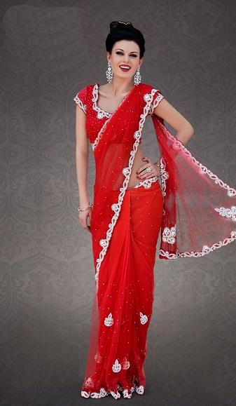 Red sarees 14