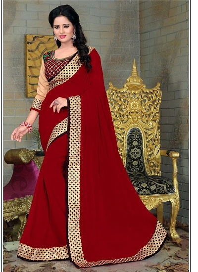 Top 15 Marvelous Red Sarees With Pictures | Styles At Life