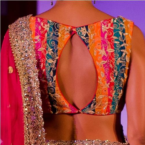 Slit back saree blouse