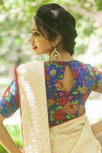 Saree Blouse Back Neck Designs-Multicolored Blouse 6