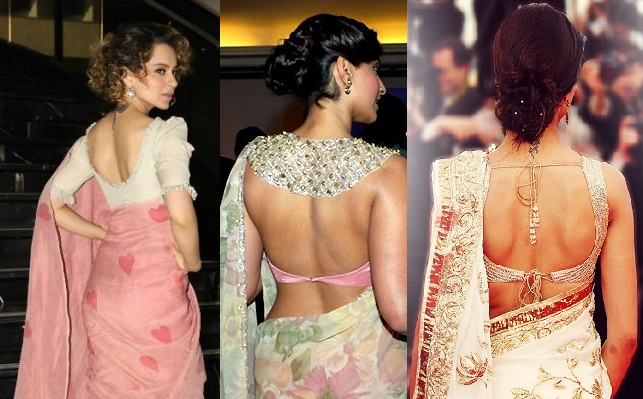 Saree Blouse Back Neck Designs