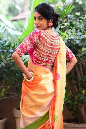 da920338858602 45 Fabulous Blouse Designs for Different Sarees of India