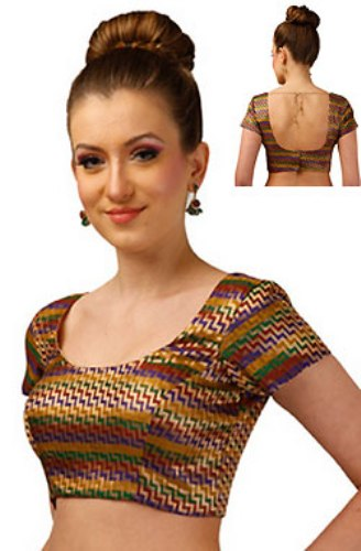 Saree Blouse Designs-Multicolored Blouse 10