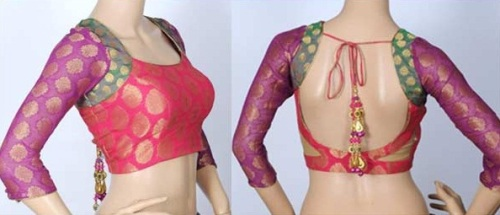 Saree Blouse Designs-Multicolored Blouse 23